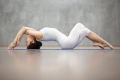 Piękny joga: Rybia poza Fotografia Stock