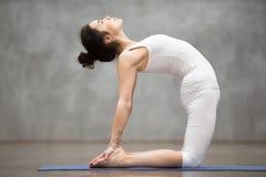 Piękny joga: ushtrasana poza Zdjęcie Stock