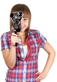 piękny kamery dziewczyny film Zdjęcia Stock