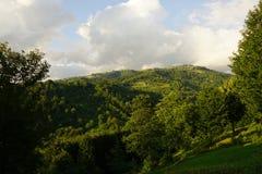 Piękny Karpackich gór krajobrazowy widok fotografia stock