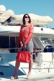 Piękny kobieta turysta. Obraz Royalty Free