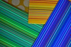 Piękny kolor linii wzór papier Obrazy Stock