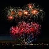 piękny kolorowy fajerwerk Zdjęcia Royalty Free