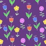 Piękny kolorowy kwiatu set, Wektorowy bezszwowy wzór Zdjęcie Royalty Free