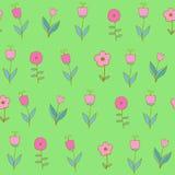 Piękny kolorowy kwiatu set, Wektorowy bezszwowy wzór Zdjęcia Royalty Free