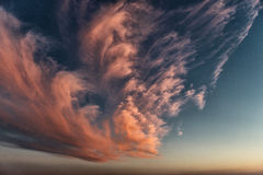 Piękny kolorowy niebo Fotografia Royalty Free