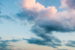 Piękny kolorowy niebo przy zmierzchem Zdjęcia Royalty Free