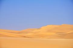 Piękny kontrast pustynia Fotografia Stock