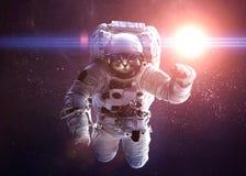 Piękny kot w kosmosie Elementy to Fotografia Royalty Free