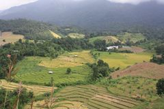 Piękny krajobraz góra w naturze Zdjęcie Royalty Free