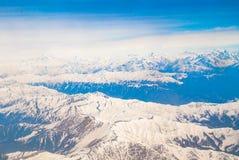 Piękny krajobraz himalaje góry, widok od airpla Fotografia Stock