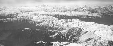 Piękny krajobraz himalaje góry, widok od airpla Fotografia Royalty Free