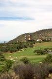 piękny krajobraz kursu golfa Zdjęcie Royalty Free