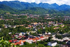 Piękny krajobraz luang prabang Zdjęcie Stock