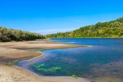 Piękny krajobraz no jest rzeki Zdjęcia Royalty Free