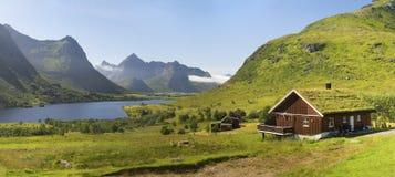 Piękny krajobraz Norwegia, Scandinavia, natura Obraz Royalty Free