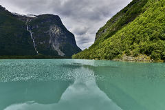Piękny krajobraz Norwegia, Scandinavia, natura Fotografia Stock