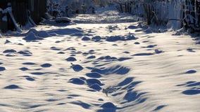 piękny krajobraz Ulica w wiosce w zimie fotografia stock