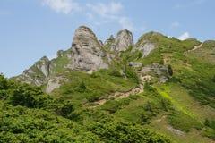 Piękny krajobraz w Ciucas górze, Rumunia Zdjęcia Stock