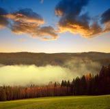 Piękny krajobraz w parku narodowym Sumava Obraz Royalty Free