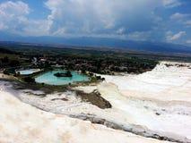 Piękny krajobraz w Turcja, Pamukkale Zdjęcie Stock