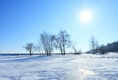 Piękny krajobraz w zimie Fotografia Royalty Free