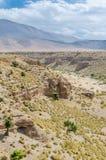 Piękny krajobraz z pojedynczymi drzewami atlant góry w Maroko, afryka pólnocna Obrazy Royalty Free