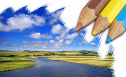 piękny krajobrazowy lato Obrazy Stock