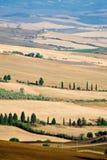 piękny krajobrazowy lato Tuscany Obrazy Royalty Free