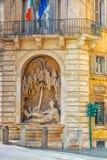 Piękny krajobrazowy miastowy i dziejowy widok Rzym, urb Obrazy Royalty Free
