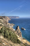 piękny krajobrazowy nadmorski Fotografia Royalty Free