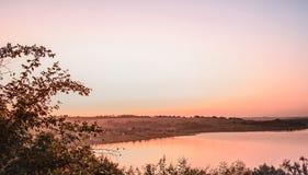 piękny krajobrazowy zmierzch Obrazy Royalty Free