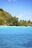 Piękny kurort w bor borach wyspy i morze, POLYNESIA Fotografia Stock