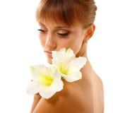 piękny kwiatu dziewczyny target1772_0_ nastoletni Obrazy Royalty Free
