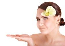 piękny kwiatu dziewczyny zdrój Obrazy Royalty Free