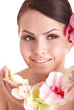 piękny kwiatu dziewczyny zdrój Zdjęcia Stock