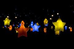Piękny lampion w czarnym tle Zdjęcia Stock