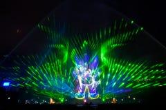 piękny laserowy przedstawienie Obrazy Stock