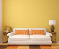 Piękny living-room. Obrazy Royalty Free