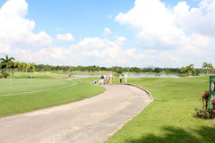 Piękny lokacja krajobrazu sporta kij golfowy Obraz Royalty Free