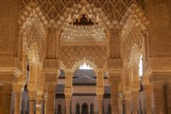 Pi?kny Maureta?ski forteca Alhambra w Granada, Andalusia obraz royalty free