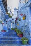 Piękny Medina Chefchaouen, Maroko Fotografia Royalty Free