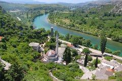 Piękny miasteczko Pocitelj w Herzegovina obraz royalty free