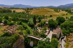 Piękny miasto Ronda, Hiszpania, krajobraz Zdjęcia Stock