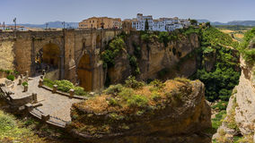 Piękny miasto Ronda, Hiszpania, krajobraz Fotografia Royalty Free