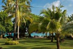 Piękny miejsce na tropikalnej wyspie obrazy stock