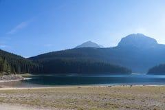 Piękny mistyczny Czarny jezioro, Durmitor obywatel Obraz Stock