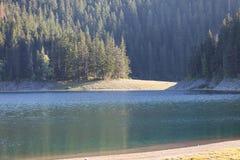 Piękny mistyczny Czarny jezioro, Durmitor obywatel Zdjęcia Stock