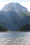 Piękny mistyczny Czarny jezioro, Durmitor obywatel Obrazy Stock