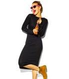 Piękny model w lecie eleganckim odziewa w studiu Zdjęcie Royalty Free
